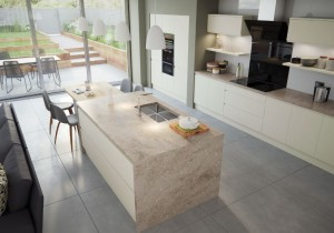 Arena Contemporary Kitchen Ivory