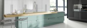 Phoenix Anthracite White and Blue designer kitchen